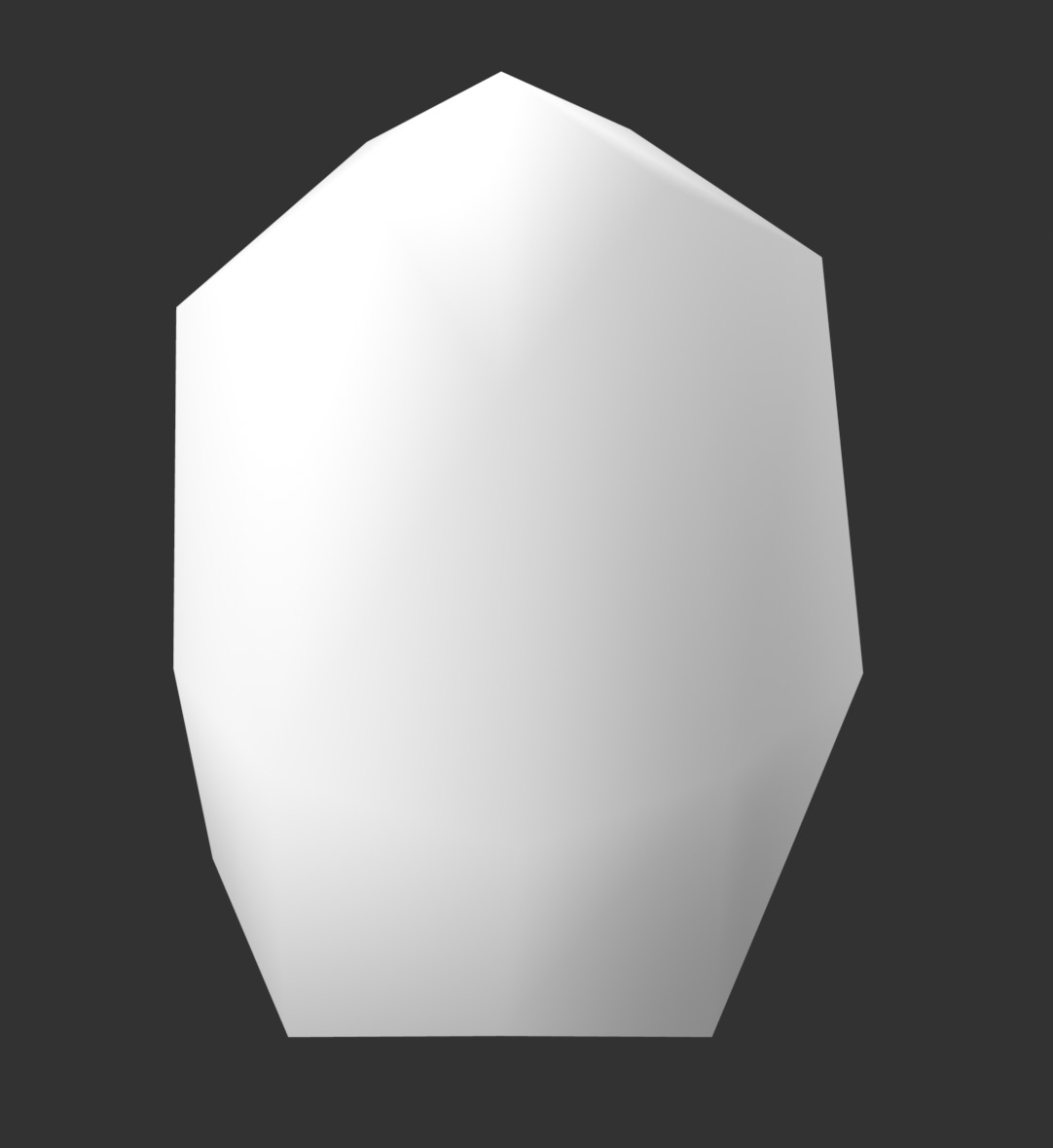 white 3D form on grey background
